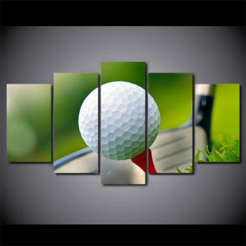 Limited Edition 5 Piece A Golf Ball Canvas