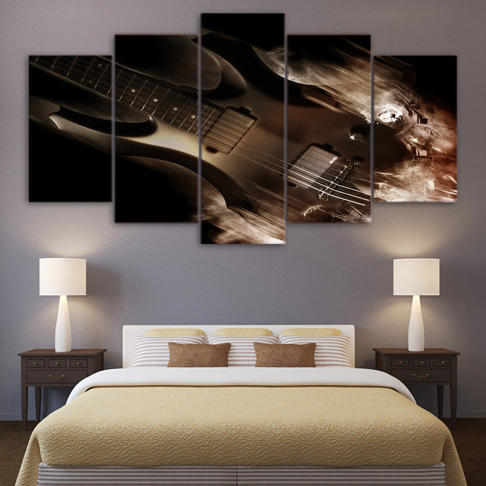 Limited Edition 5 Piece Abstract Classical Guitar Canvas