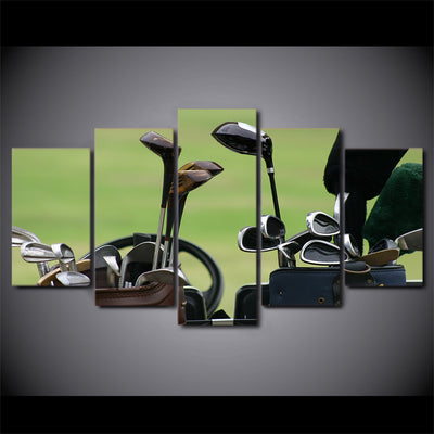 Limited Edition 5 Piece Amazing Golf Clubs Canvas