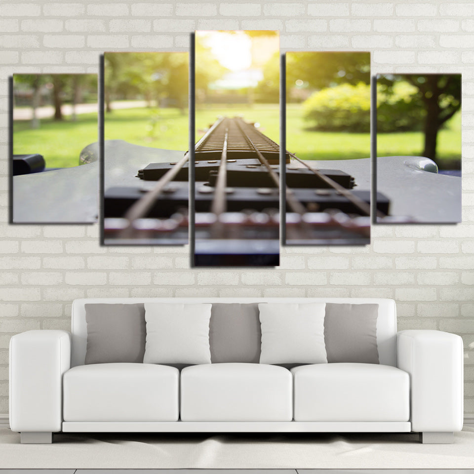 Limited Edition 5 Piece Amazing Modern Guitar Canvas