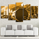 Limited Edition 5 Piece Artistic Bass Drum Canvas
