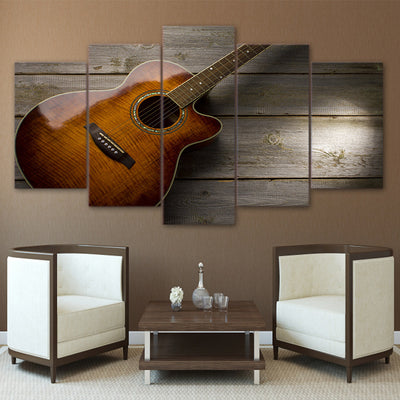 Limited Edition 5 Piece Artistic Classic Guitar Canvas