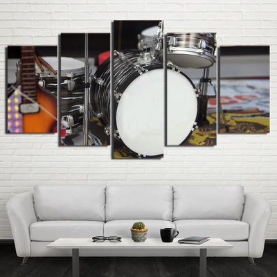 Limited Edition 5 Piece Artistic Modern Drum Canvas