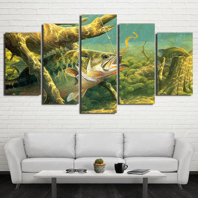 Limited Edition 5 Piece Artistic Ocean Fish Canvas