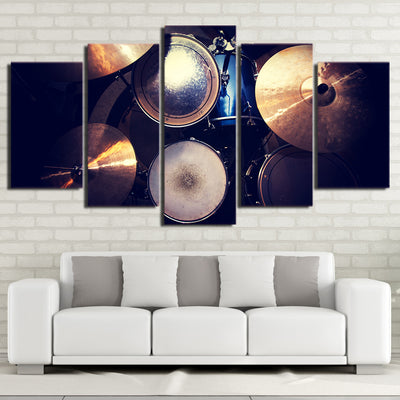 Limited Edition 5 Piece Awesome Blue Drum Set Canvas