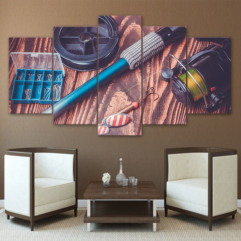 Limited Edition 5 Piece Awesome Fishing Rod Tools Canvas