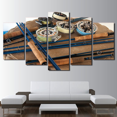 Limited Edition 5 Piece Awesome Fishing Tools Canvas