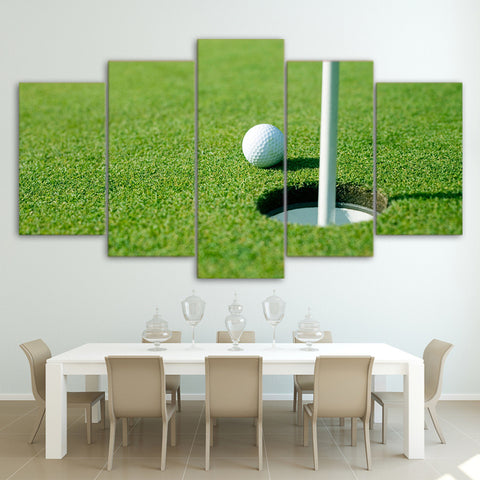 Limited Edition 5 Piece Ball In A Hole Golf Canvas