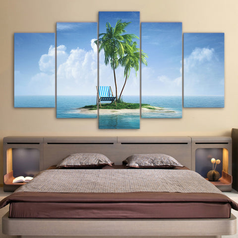 Limited Edition 5 Piece Beach Chair In An Island Canvas