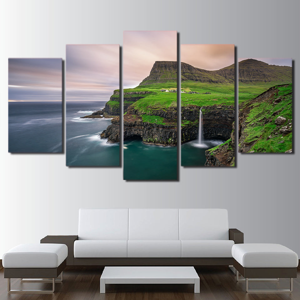 Limited Edition 5 Piece Beautiful Ocean View Canvas