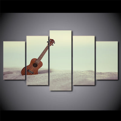 Limited Edition 5 Piece Beautiful Ukelele Guitar Canvas