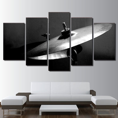 Limited Edition 5 Piece Black And White Cymbals Canvas