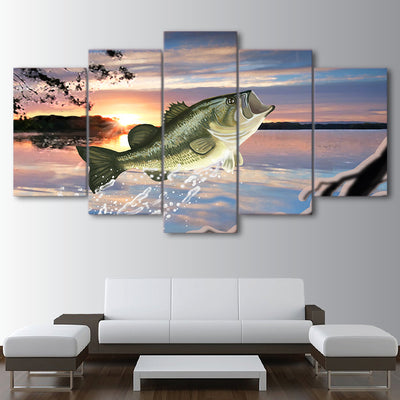 Limited Edition 5 Piece Ocean Fish Canvas