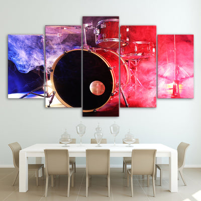 Limited Edition 5 Piece Colorful Modern Bass Drum Canvas