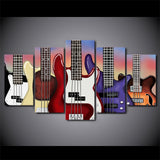 Limited Edition 5 Piece Bass Guitar Canvas