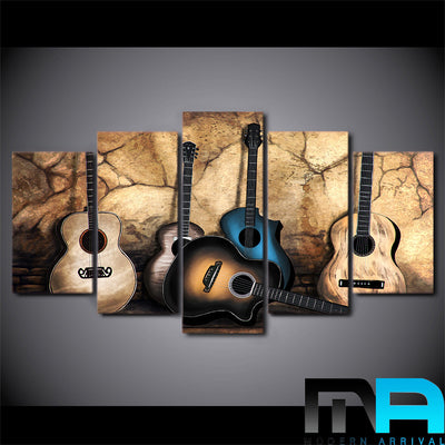 Limited Edition 5 Piece Classic Guitar Canvas