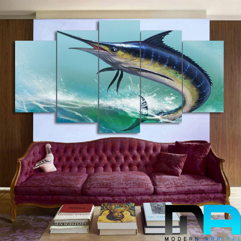 Limited Edition 5 Piece  Big Fish Canvas