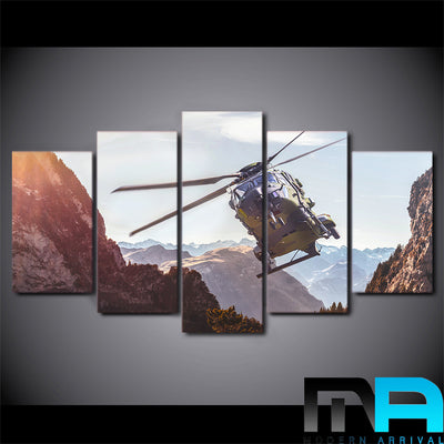 Limited Edition 5 Piece Helicopter Canvas