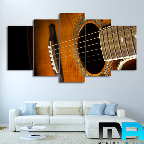 Limited Edition 5 Piece Amazing Classic Guitar Canvas