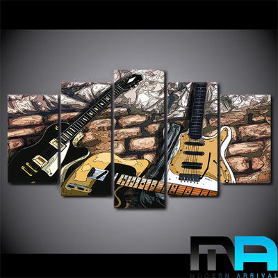 Limited Edition 5 Piece Awesome Guitar Artwork Canvas