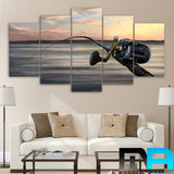Limited Edition 5 Piece Awesome Fishing Rod Canvas