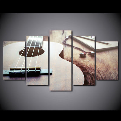 Limited Edition 5 Piece Classic Guitar With Headphone Canvas
