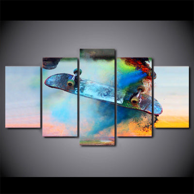 Limited Edition 5 Piece Color Skateboard Canvas