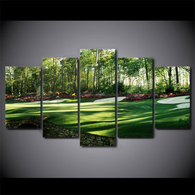 Limited Edition 5 Piece Colorful Golf Course Canvas