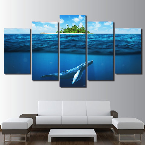 Limited Edition 5 Piece Deep Blue Ocean Canvas