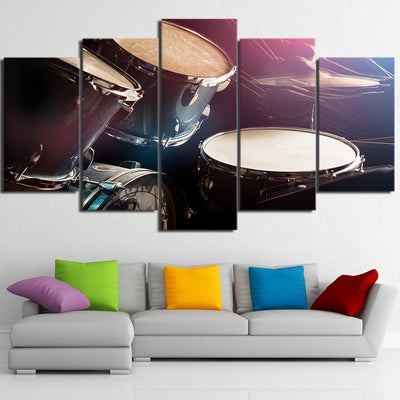Limited Edition 5 Piece Shinning Color Drum Set  Canvas