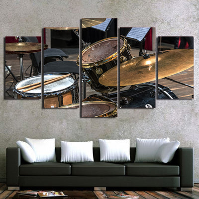 Limited Edition 5 Piece Drum Set With A Stick Canvas