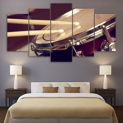Limited Edition 5 Piece Drum And Stick Canvas
