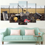 Limited Edition 5 Piece Drums In The Field Canvas