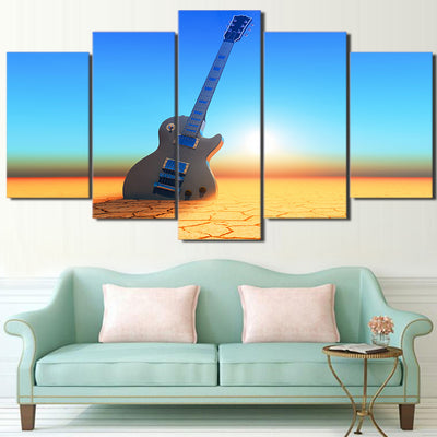 Limited Edition 5 Piece Electric Guitar In The Desert Canvas