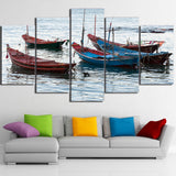 Limited Edition 5 Piece Fishing Boats Canvas