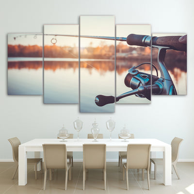 Limited Edition 5 Piece Fishing Rod Canvas