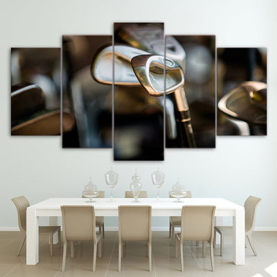 Limited Edition 5 Piece Gigantic Golf Clubs Canvas
