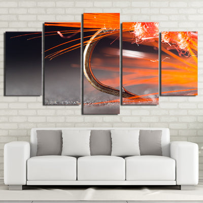 Limited Edition 5 Piece Awesome Gold Fishing Hook Canvas