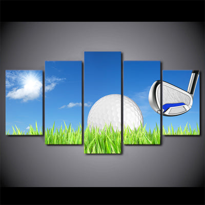 Limited Edition 5 Piece Golf Ball Under The Blue Sky Canvas