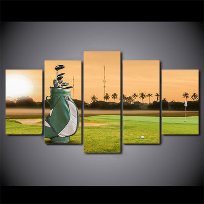 Limited Edition 5 Piece Golf Bag With Golf Clubs In Sunrise Canvas