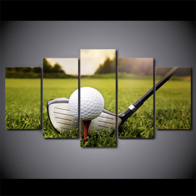 Limited Edition 5 Piece Golf Ball Ready Canvas