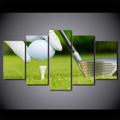 Limited Edition 5 Piece Golf Ball Ready To Kick-Off Canvas
