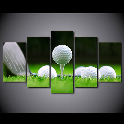 Limited Edition 5 Piece Golf Balls And A Club Canvas