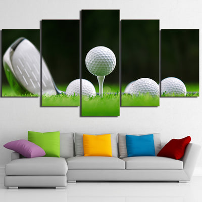 Limited Edition 5 Piece Golf Balls And Club Canvas