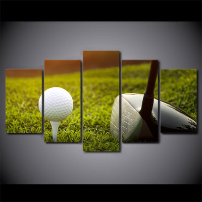 Limited Edition 5 Piece Golf Club And Balls Canvas