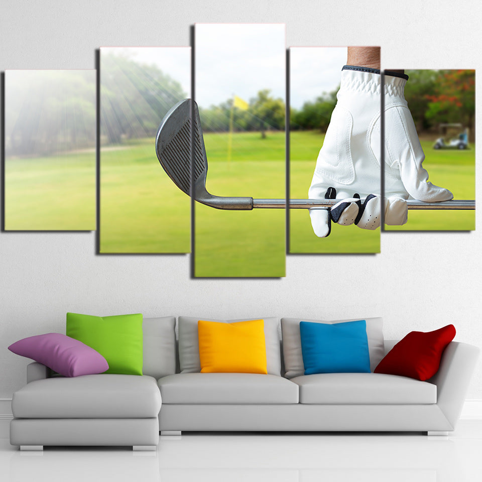 Limited Edition 5 Piece Golf Club and A Glove Canvas