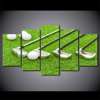 Limited Edition 5 Piece Golf Clubs In A Grass Canvas