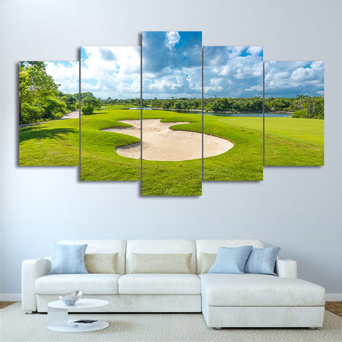 Limited Edition 5 Piece Golf Course Beside The Lake Canvas
