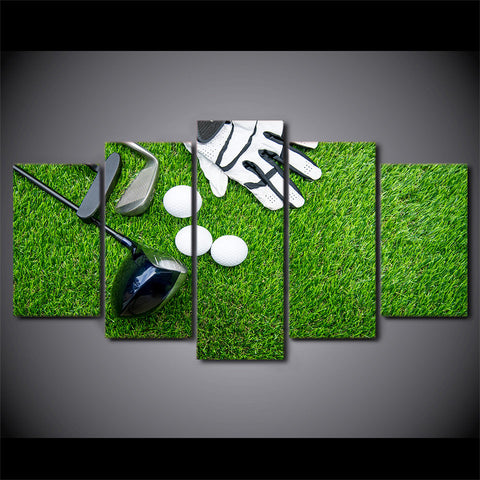 Limited Edition 5 Piece Golf Equipments Canvas