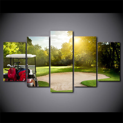 Limited Edition 5 Piece Green Golf Course Canvas